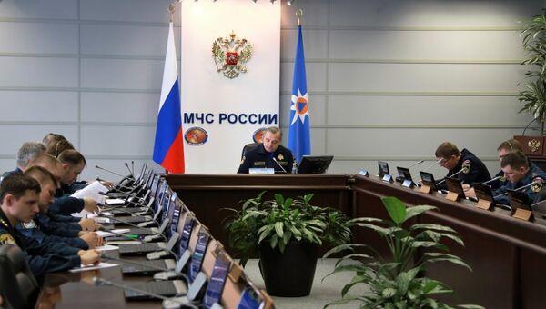 На заседании рабочей группы правительственной комиссии по чрезвычайным ситуациям связанном с пожаром в Кемерово. 25 марта 2018