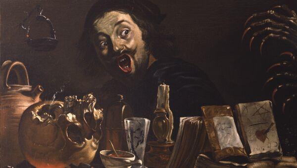 Картина Питера ван Лара Автопортрет с магической сценой