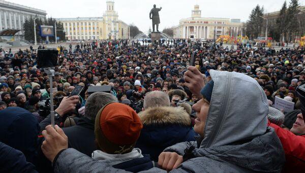 Митинг у администрации Кемерово. 27 марта 2018