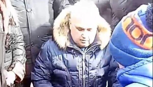 Вице-губернатор Кемеровской области Сергей Цивилев на митинге в память о жертвах пожара в ТЦ Зимняя вишня