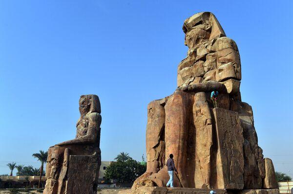 Колоссы Мемнона в Луксоре, Египет