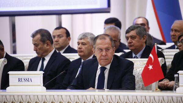 Сергей Лавров на международной конференции по Афганистану в Ташкенте. 27 марта 2018