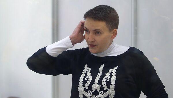 Депутат Верховной рады Украины Надежда Савченко во время заседания апелляционного суда. Архивное фото