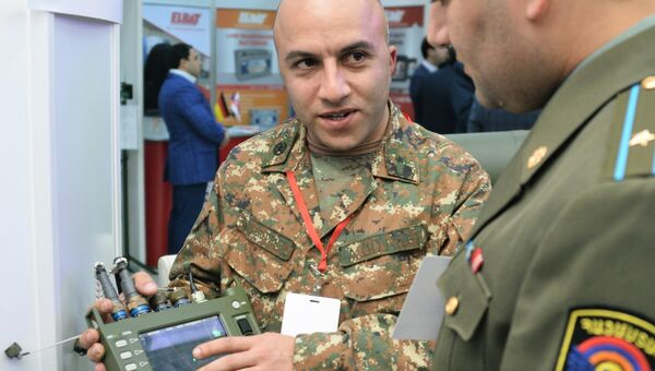 Российская портативная радиолокационная станция ФАРА-ВР, 1Л111М на международной выставке вооружения и оборонных технологий ArmHiTec-2018 в Ереване