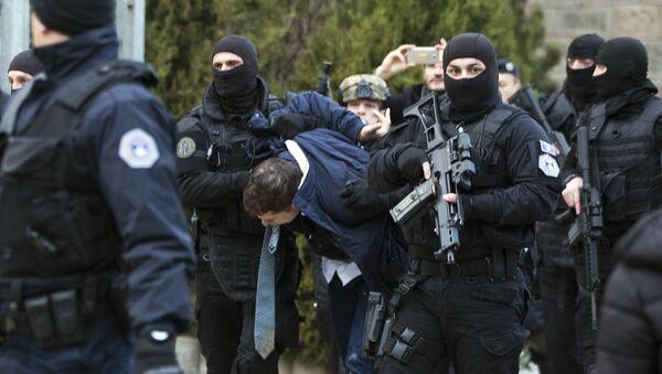Задержание сербского министра Марко Джурича в Косовской Митровице. 26 марта 2018