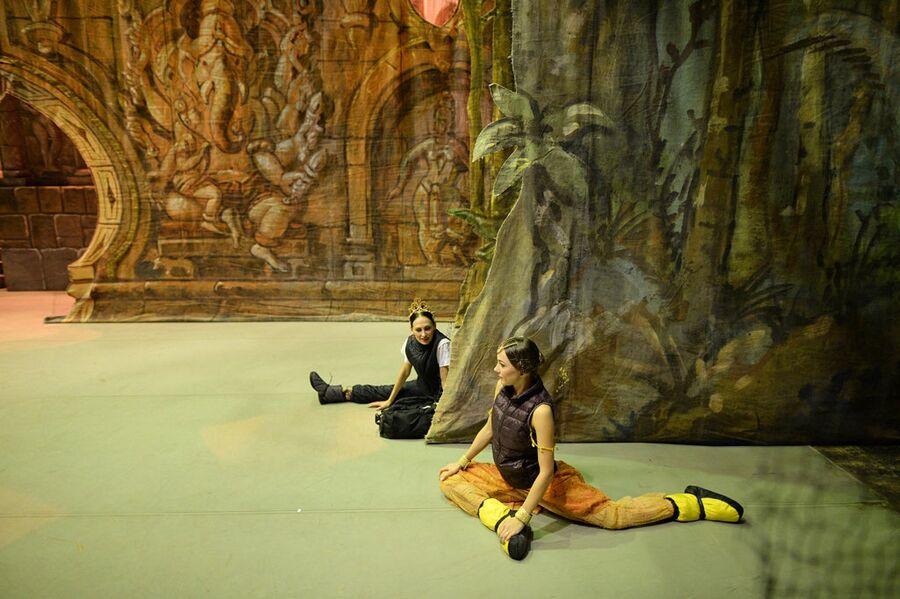Балерины на сцене Новосибирского оперного театра