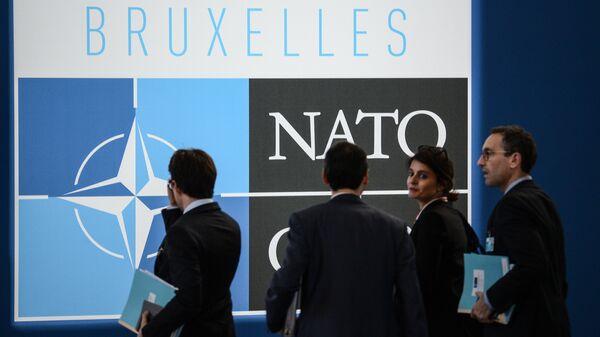 Логотип НАТО. Архивное фото