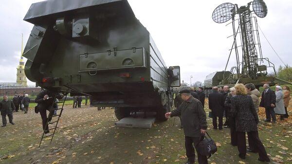 Ракетная установка Тополь, снятая с боевого дежурства в рамках действия Договора о сокращении наступательных вооружений