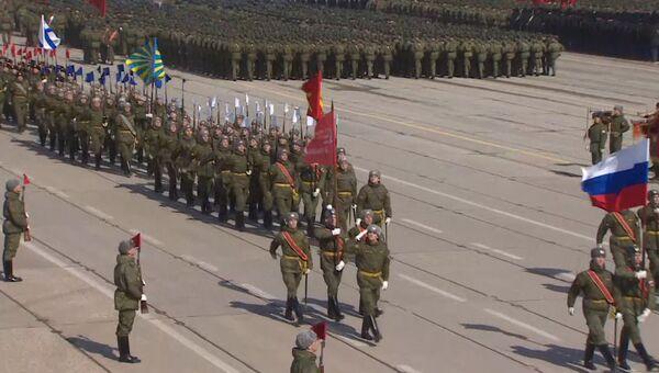 Российские военные провели репетицию парада Победы на полигоне в Алабино