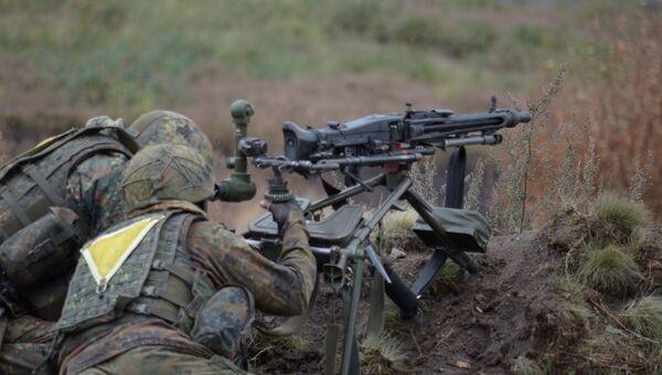 Стрельба из пулемета HK MG3