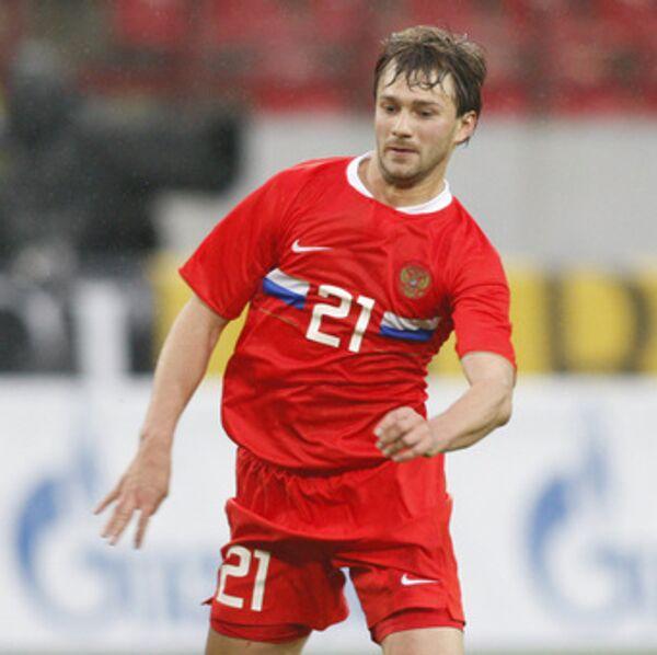 Российский футболист Дмитрий Сычев. Архивное фото
