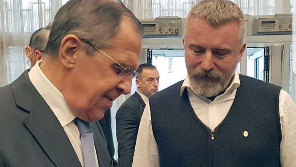 МИД РФ Сергей Лавров во время встречи с экс-почетным консулом РФ в Черногории Боро Джукичем