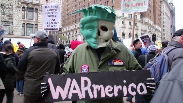 Жители Нью-Йорка и Окленда протестовали против американской агрессии