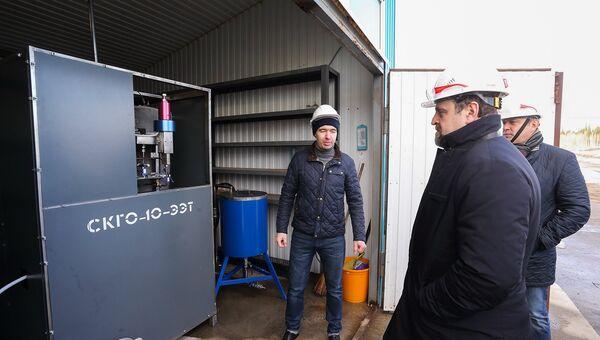 Донской высоко оценил оборудование на полигоне промышленных отходов Томска
