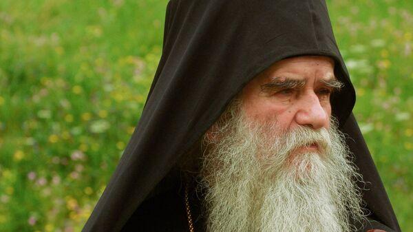 Митрополит Черногорско-Приморский Сербской православной церкви Амфилохий во время службы в Дукле