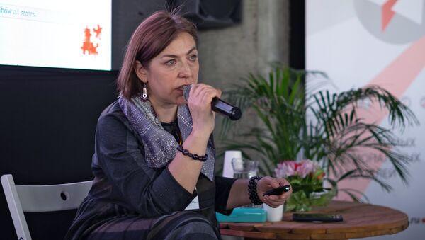 Журналист Наталья Лосева на XII саммите независимых региональных издателей в Краснодаре. 19 апреля 2018
