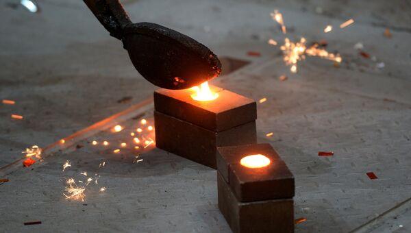 В доменном цехе металлургического комбината