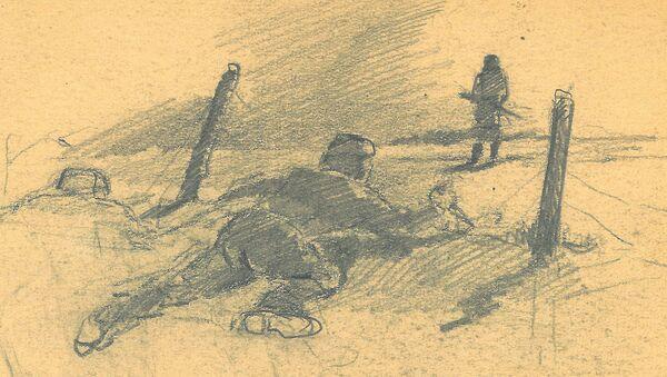 Фронтовой рисунок Светозара Русакова