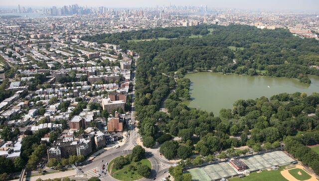 Панорама Проспект-парка в Бруклине (США)