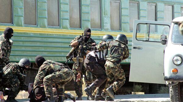 Спецназ Службы национальной безопасности Армении во время  учений Атом-антитеррор-2006