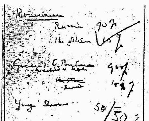 Копия соглашения о процентах из архивов Уинстона Черчилля