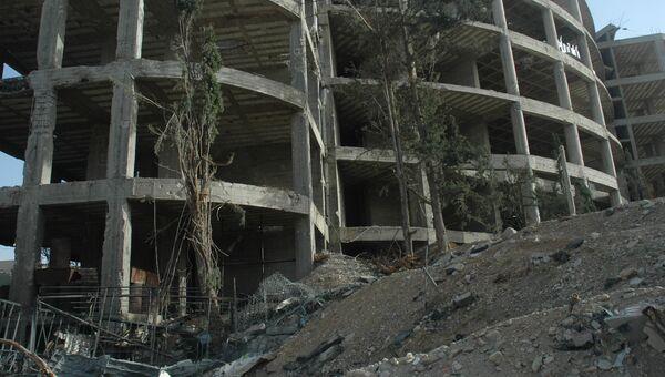 Тюрьма Джейш аль-Ислам в городе Дума