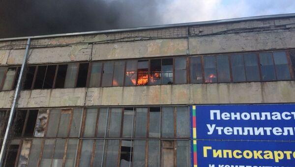 Пожар на складе гипсокартона во Владикавказе. Архивное фото