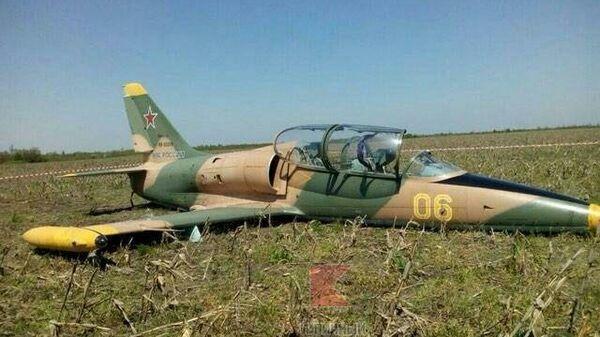 Место аварийной посадки самолета Л-39 в Адыгее