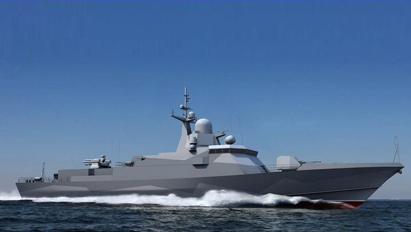 3D модель малого ракетного корабля Шквал