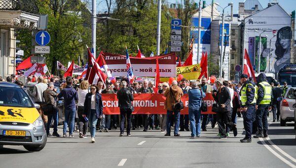 Шествие в защиту русских школ в Риге. 1 мая 2018