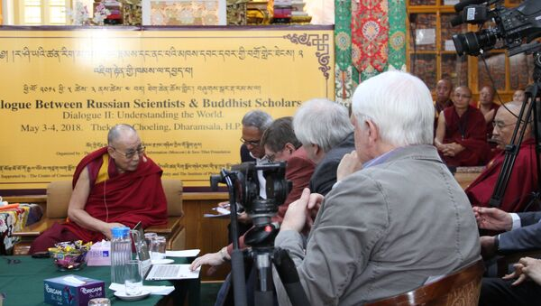 Далай-лама XIV на конференции с ведущими российскими учеными в Дхарамсале