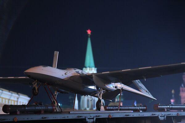 Беспилотный летательный аппарат (БЛА) Корсар на репетиции военного парада на Красной площади, посвященного 73-й годовщине Победы в Великой Отечественной войне