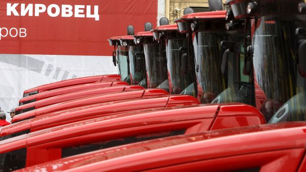 Тракторы К-9000 на Кировском заводе