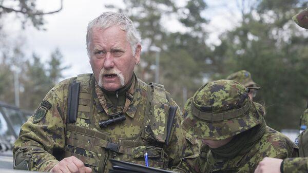 Солдаты эстонской армии во время учений Siil-2018