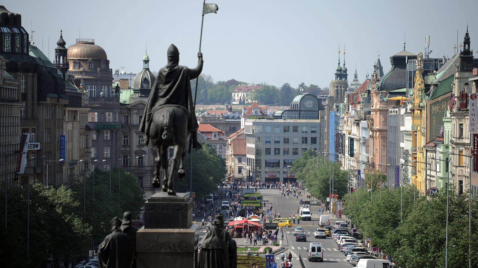 Вид на Вацлавскую площадь в Праге - РИА Новости, 1920, 02.05.2021