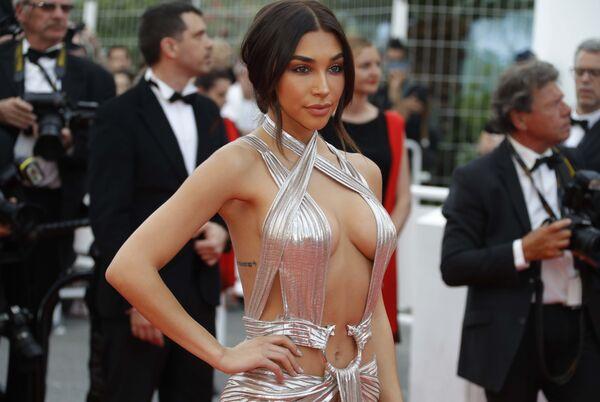 Модель Шантель Джеффрис на красной дорожке церемонии открытия 71-го Каннского международного кинофестиваля