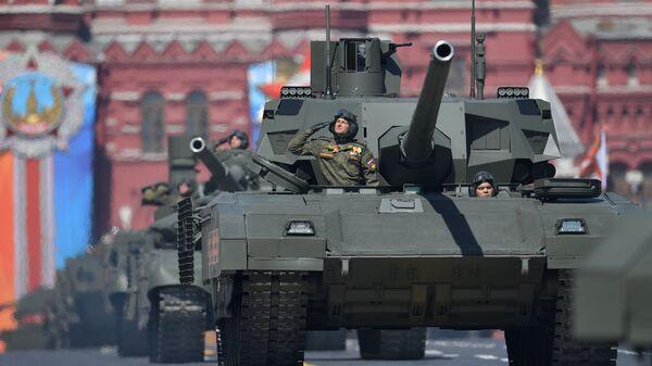 Танк Т-14 Армата на военном параде, посвященном 73-й годовщине Победы в ВОВ