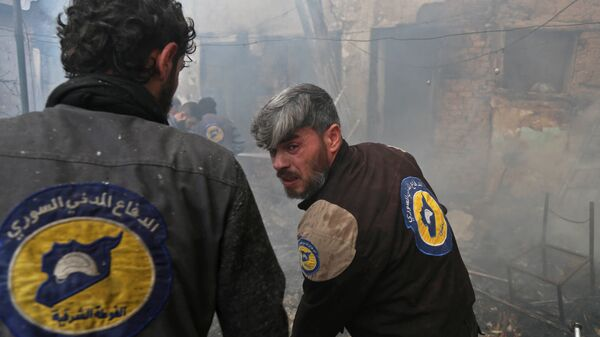 Активисты из организации Белые каски в Восточной Гуте, Сирия