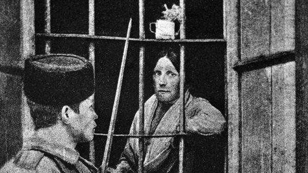 Эсерка Мария Спиридонова за решеткой тюремной больницы. 1 февраля 1905 года