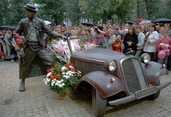 Открытие памятника артисту Юрию Никулину