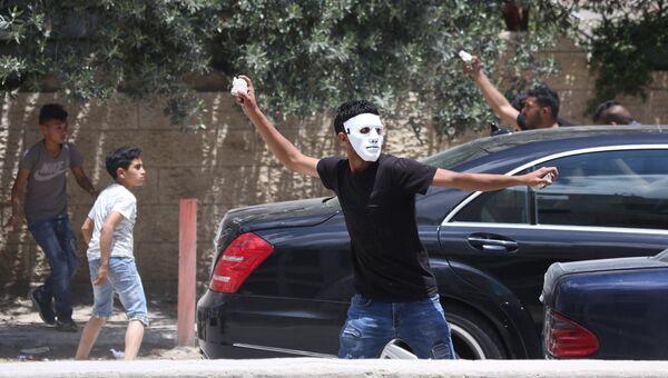 Участники протестов в Палестине против переноса посольства США из Тель-Авива в Иерусалим. 14 мая 2018