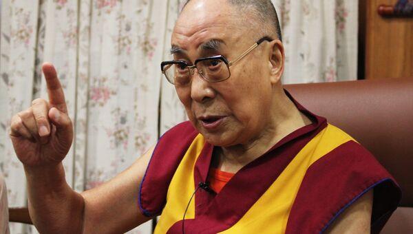 Далай-лама во время интервью в своей резиденции в Дхарамсале