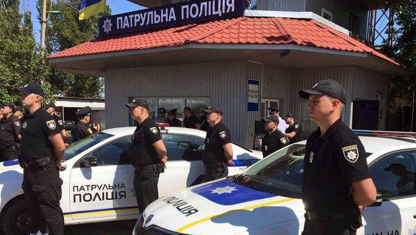 Сотрудники патрульной полиции в Крыму и Севастополе в Херсонской области, Украина