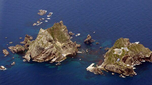 Спорные острова Токто (Такэсима в японском варианте), управляемые Южной Кореей