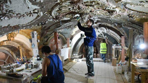Реставрация павильона Грот в музее-усадьбе Кусково