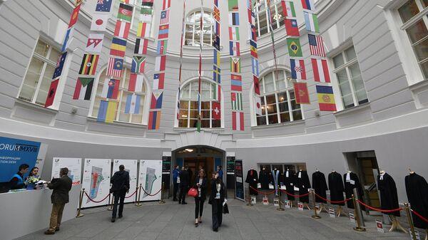 Флаги стран-участниц Санкт-Петербургского международного юридического форума