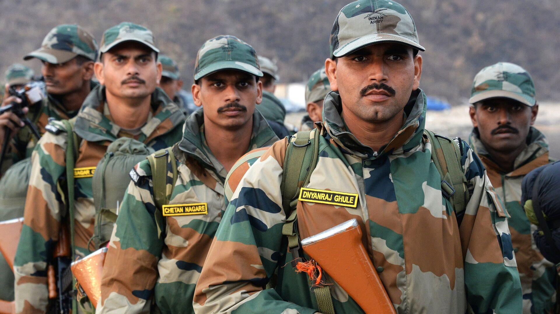 Военнослужащие Индии на международных российско-индийских учениях Индра - 2017 - РИА Новости, 1920, 05.08.2021
