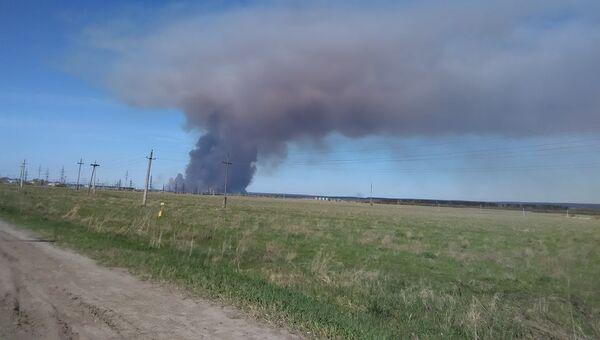 Детонация снарядов на территории бывшего военного арсенала близ удмуртского Пугачево
