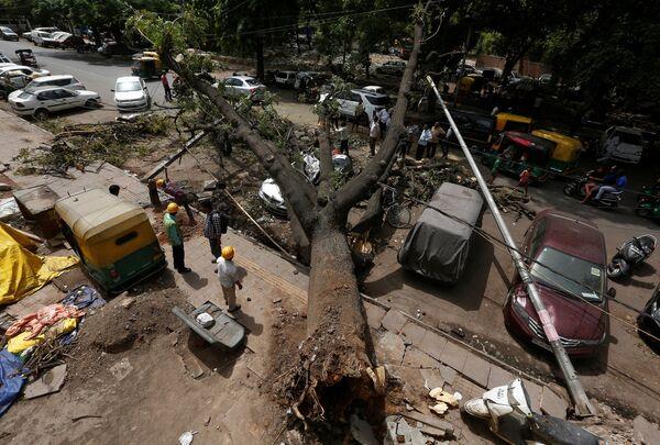 Последствие бури в Нью-Дели, Индия