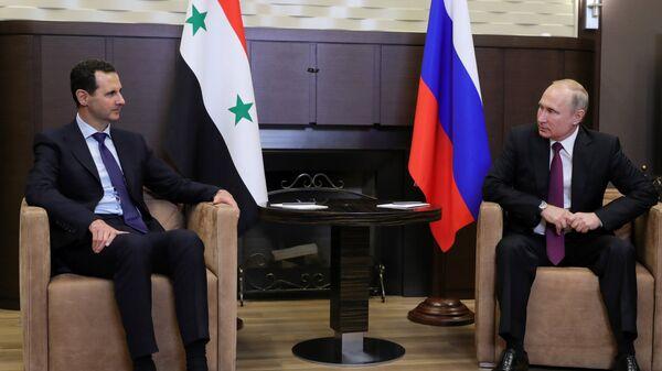 Путин и Асад обсудили обстановку в Сирии